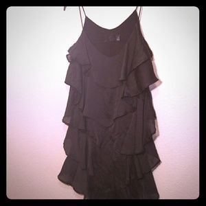 H&M Black Spaghetti Strap Layered Top - Small